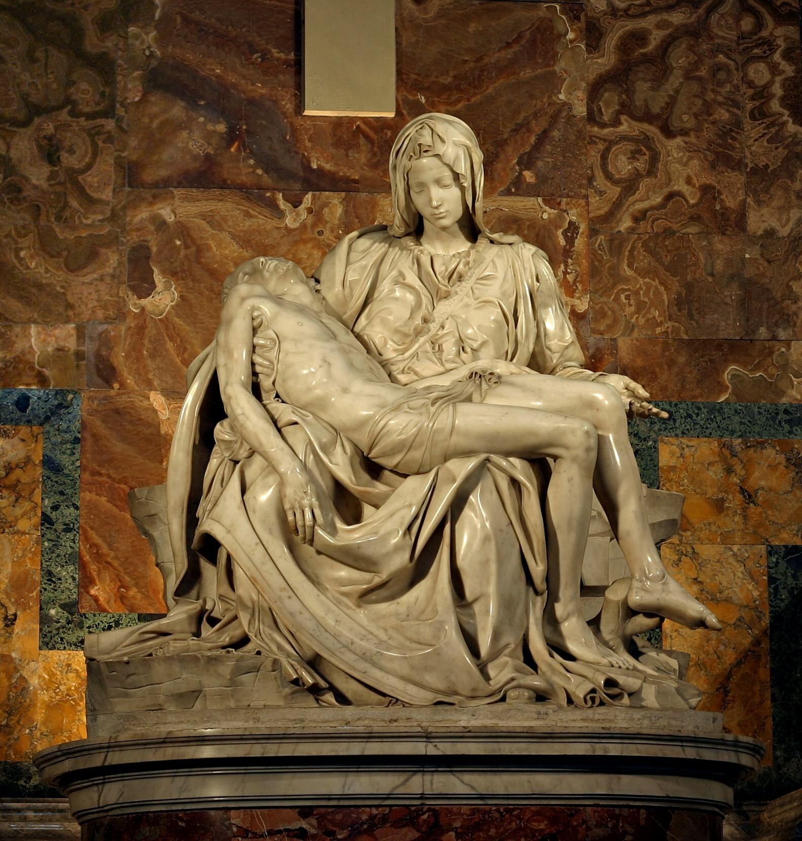 哀悼基督 意大利 米开朗基罗 云石雕像 高175厘米 1498 圣伯多禄大殿