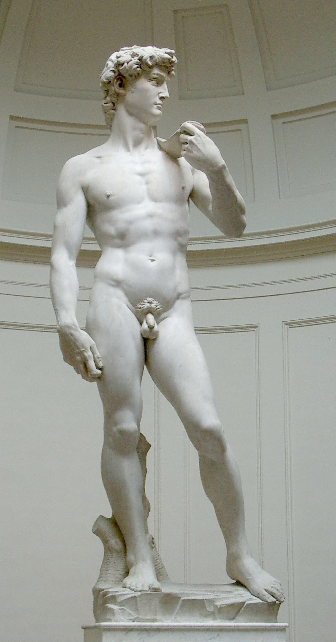 大卫像 意大利 米开朗基罗 雕塑 佛罗伦萨美术学院艺廊