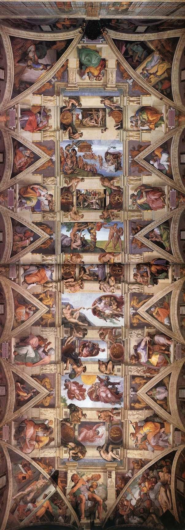 西斯廷天顶画 意大利 米开朗基罗 天顶画 梵谛冈西斯廷教堂