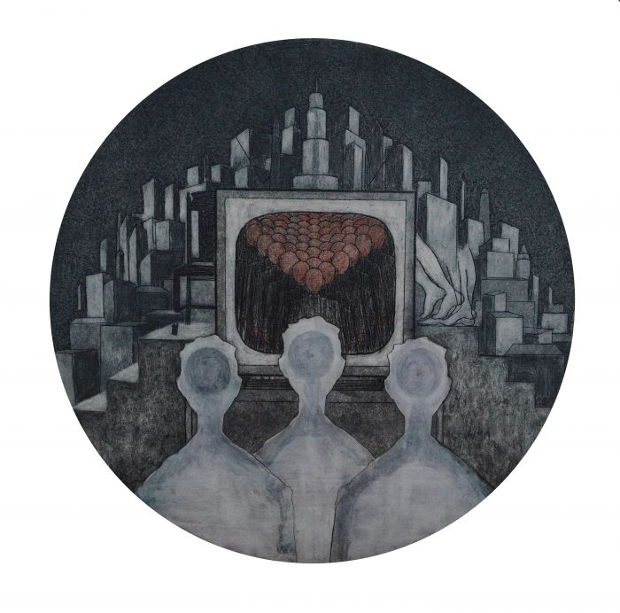 《 Golem》系列之三、综合版种、43_43cm2015年、袁亚威