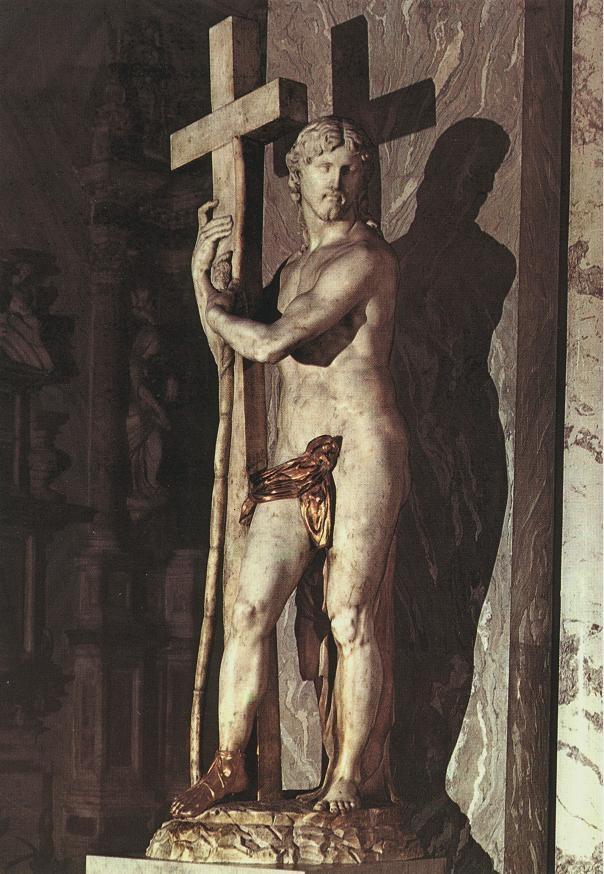 带着十字架的耶稣基督 米开朗基罗
