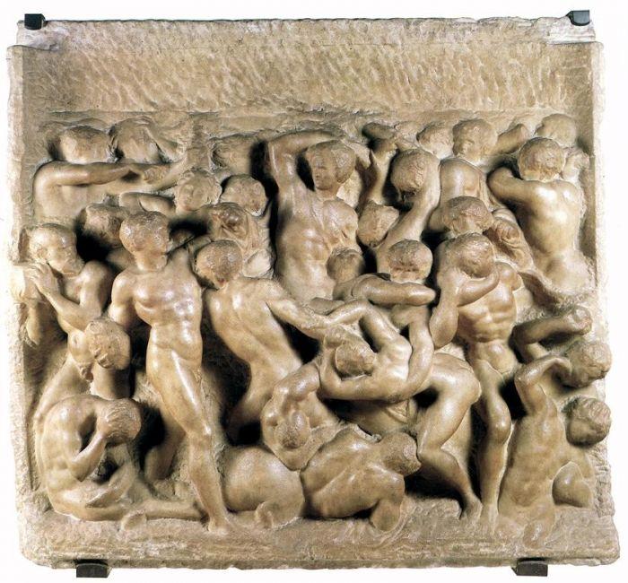 拉庇泰族人和半人马的战斗 米开朗基罗