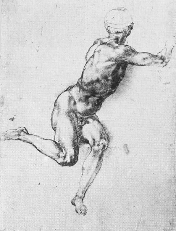 卡希纳之战人物草图 米开朗基罗