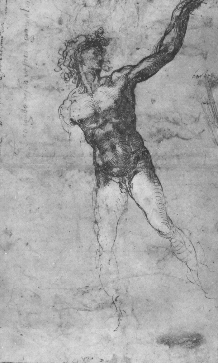 裸体男子草图(卡希纳战役) 米开朗基罗