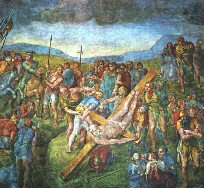 圣·彼得殉难 米开朗基罗