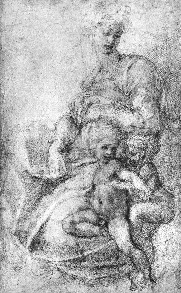 圣母子和圣施洗约翰 米开朗基罗
