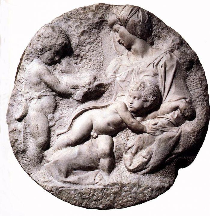 圣母子和施洗者约翰 米开朗基罗