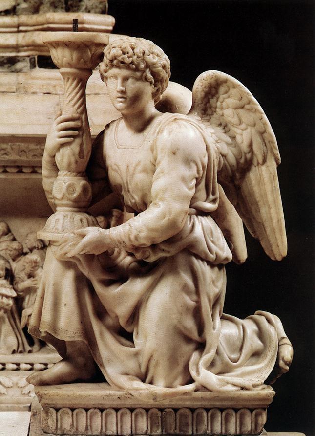 天使与烛台 米开朗基罗