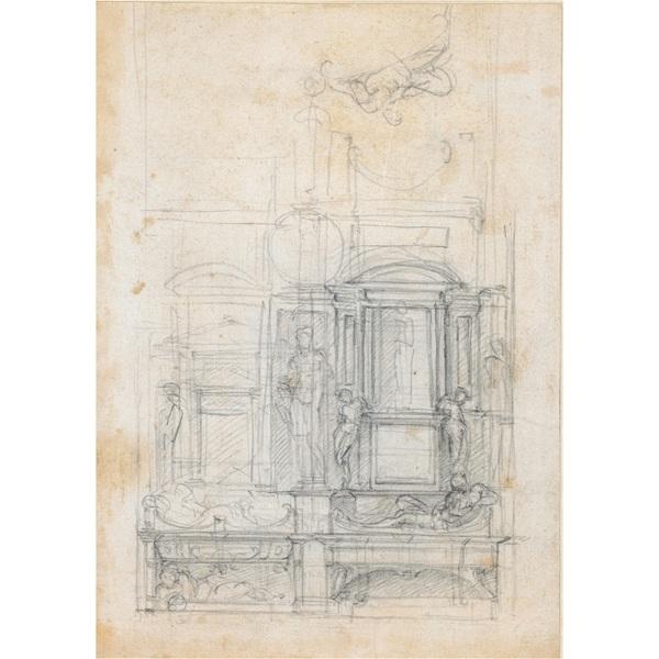 双墓墙设计草图 米开朗基罗