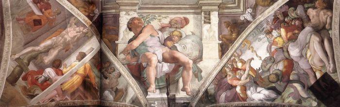 西斯廷教堂天顶画 米开朗基罗