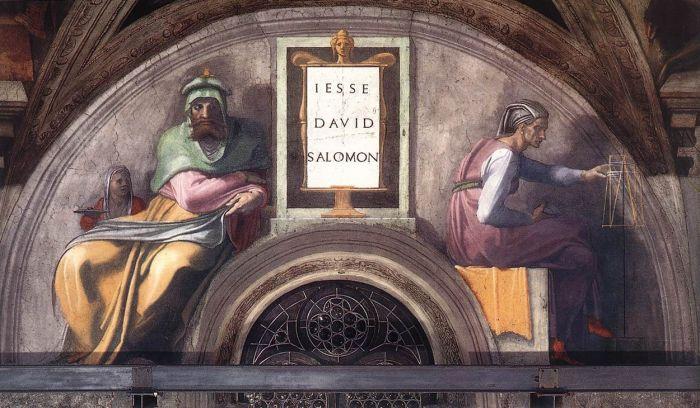 耶稣基督的家谱:大卫,所罗门 米开朗基罗