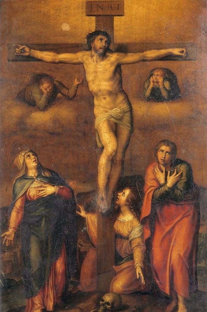 耶稣被钉死在十字架上 米开朗基罗