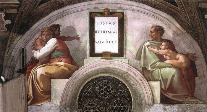 耶稣基督的家谱:撒拉铁 米开朗基罗