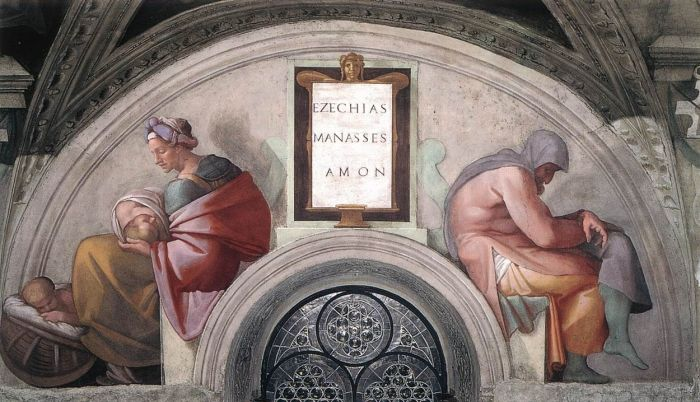 耶稣基督的家谱:玛拿西,阿蒙 米开朗基罗
