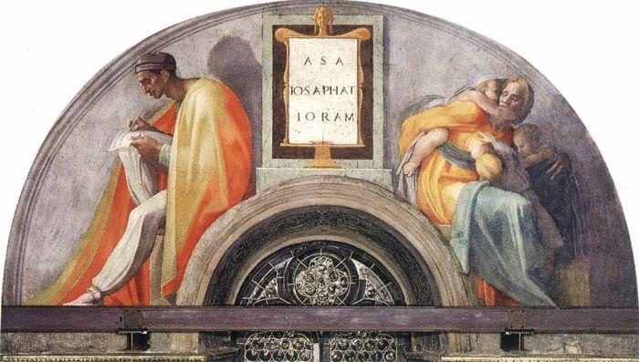 耶稣基督的家谱:约沙法,约兰 米开朗基罗