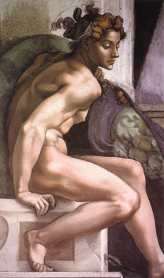 伊纽多(裸体巨人) 米开朗基罗