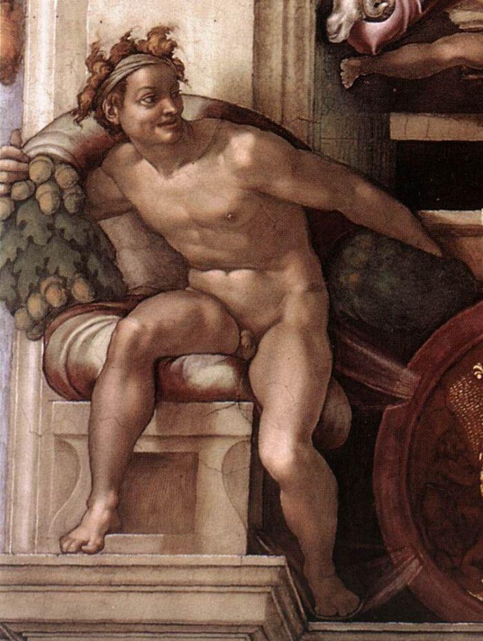伊纽多(裸体巨人) 米开朗基罗5