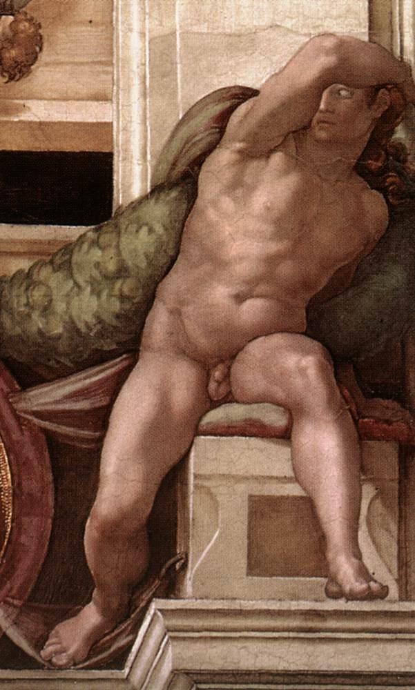 伊纽多(裸体巨人) 米开朗基罗6