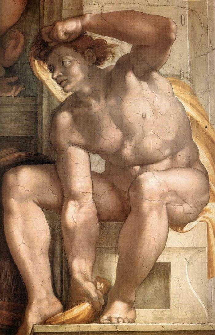 伊纽多(裸体巨人) 米开朗基罗11