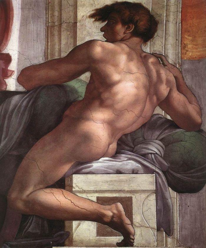 伊纽多(裸体巨人) 米开朗基罗10