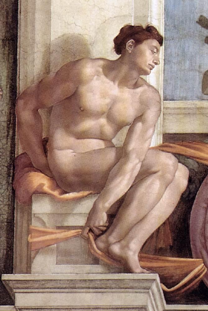 伊纽多(裸体巨人) 米开朗基罗7