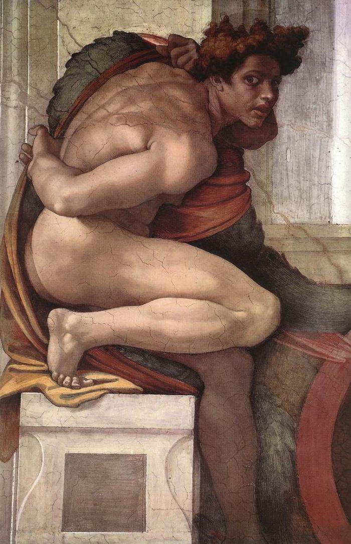 伊纽多(裸体巨人) 米开朗基罗12