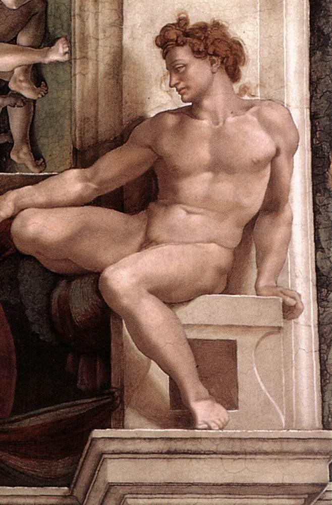 伊纽多(裸体巨人) 米开朗基罗4