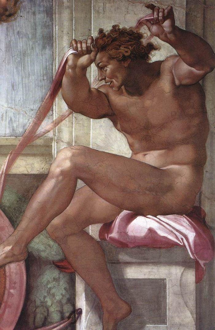 伊纽多(裸体巨人) 米开朗基罗13
