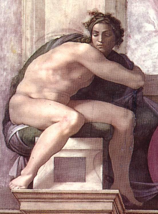 伊纽多(裸体巨人) 米开朗基罗16