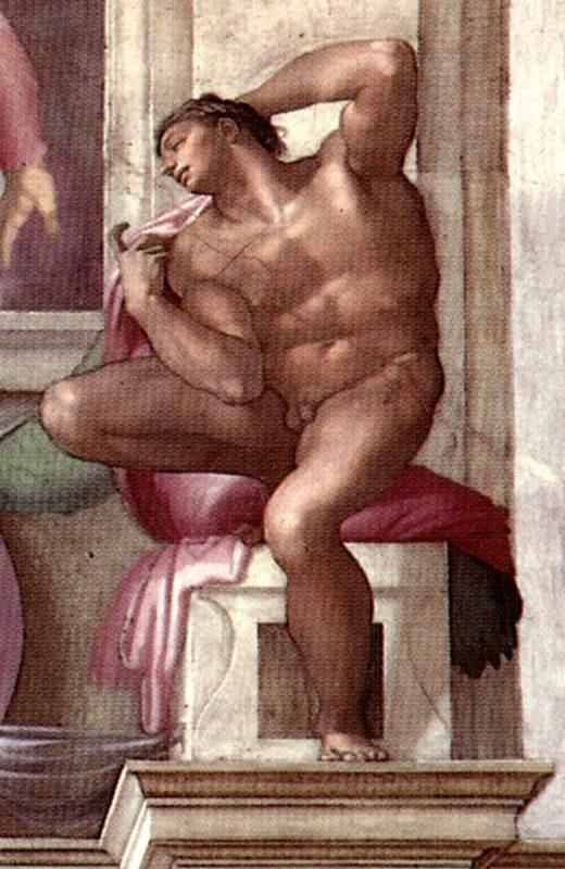 伊纽多(裸体巨人) 米开朗基罗17