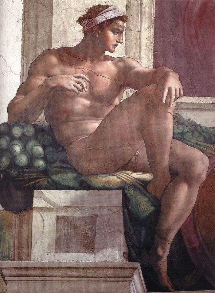 伊纽多(裸体巨人) 米开朗基罗15