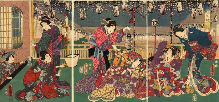 唯美华丽的日本浮世绘风格的插画美图