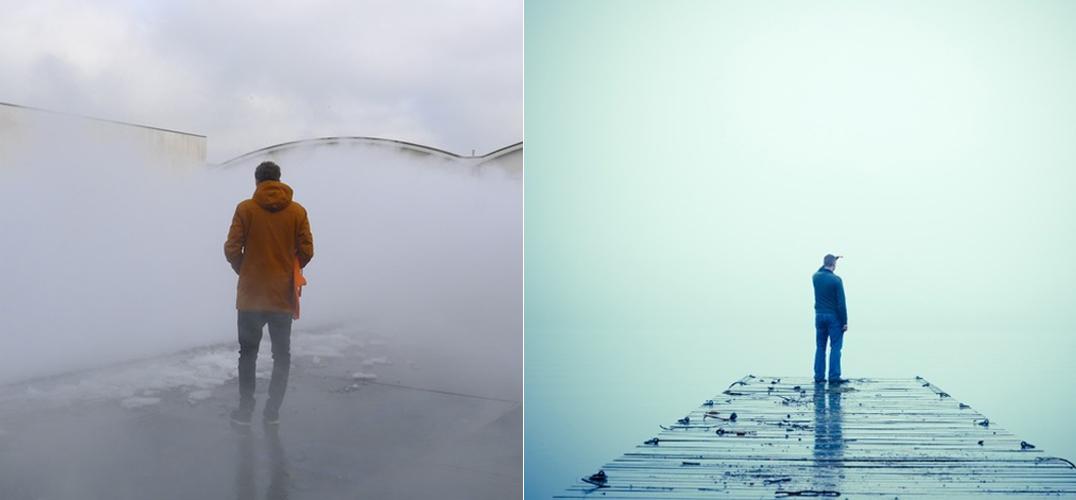 【Art or Not】邀请你来猜:两处雾景哪个才是真正艺术品?