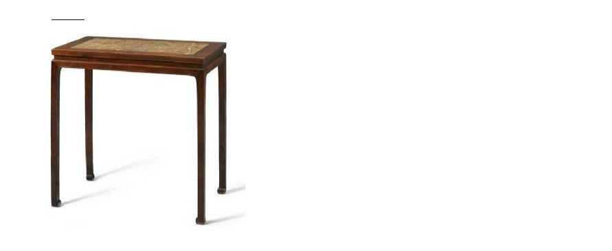 桌腿足间无枨子如现例,是典型明朝家具设计,常见于明代绘画和木刻版画