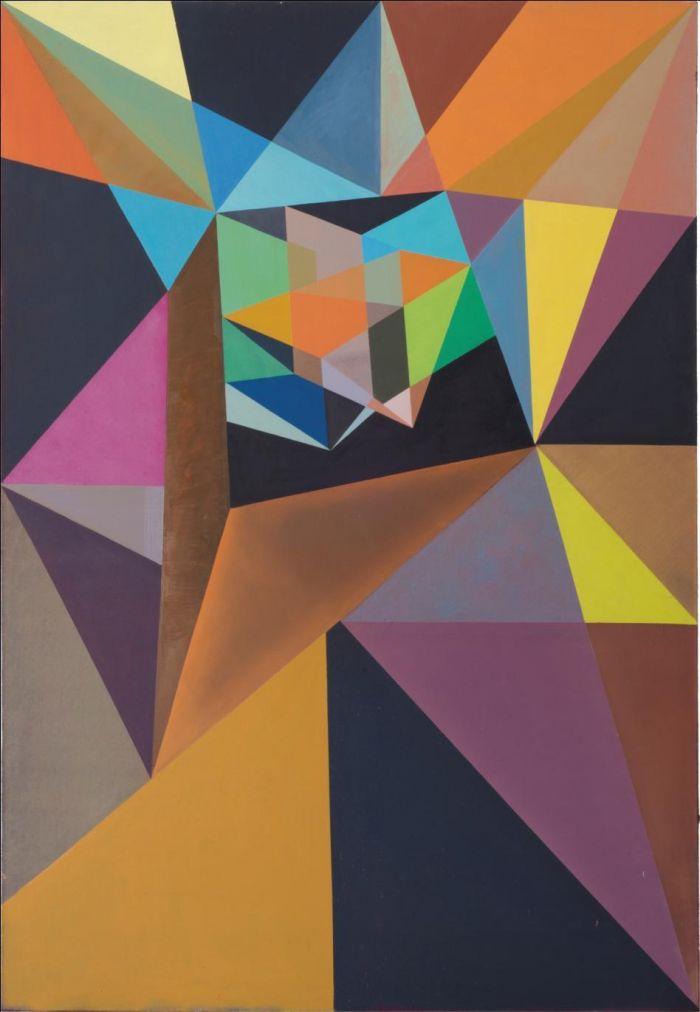《颜色激烈扩散》, 2015 布面油画, 204 x 140 厘米