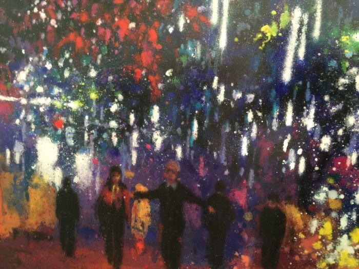 流动的盛宴 4号  布面油画 200x150cm 2015(局部)