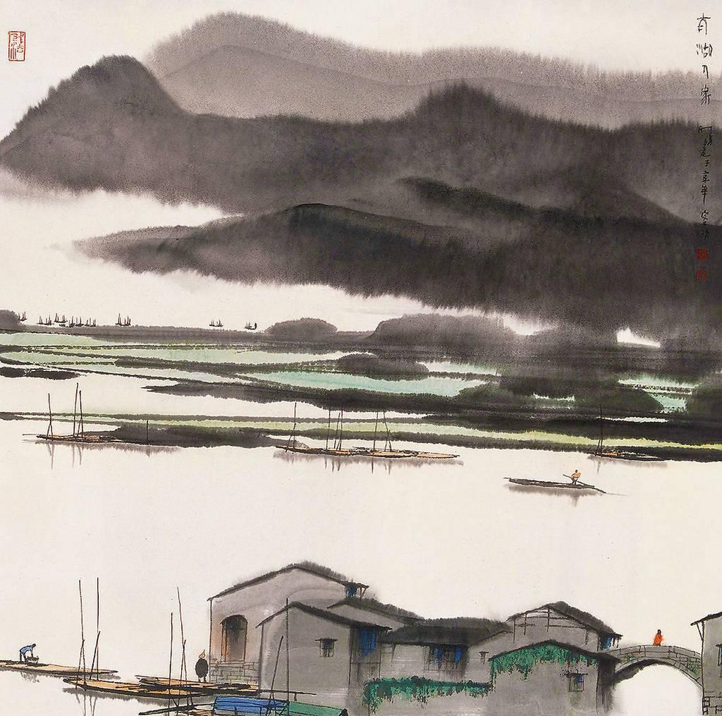 杨明义《太湖人家》