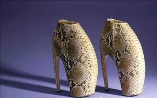 太空舞者:亚历山大‧麦昆限量太空蟒蛇皮高跟鞋
