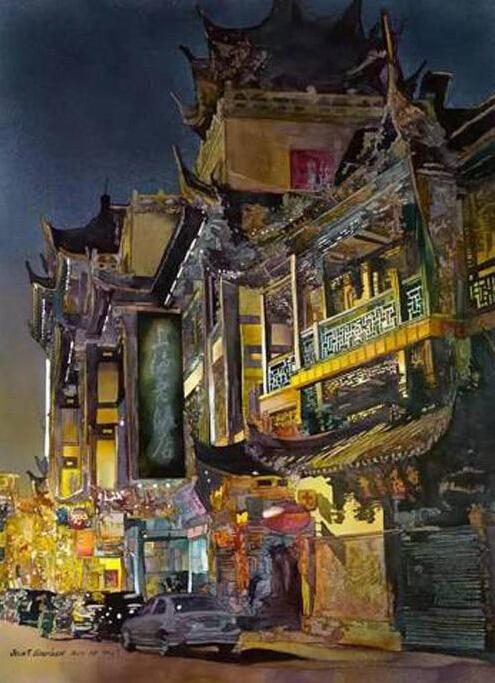 水彩画里的美丽中国