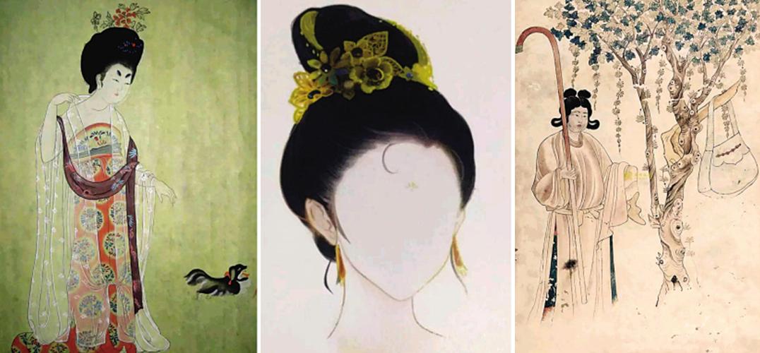 女子古代劲装手绘