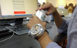 """戴上绝对话题十足的铝罐手表""""CAN WATCH"""""""