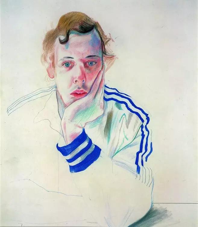 大卫·霍克尼的人体单线条素描太牛了!可他画的沃霍尔