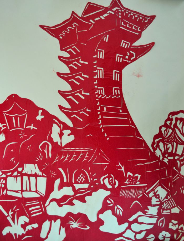 儿童剪纸图凤凰步骤