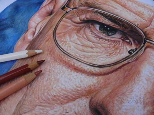 超逼真的浅色铅笔画作品