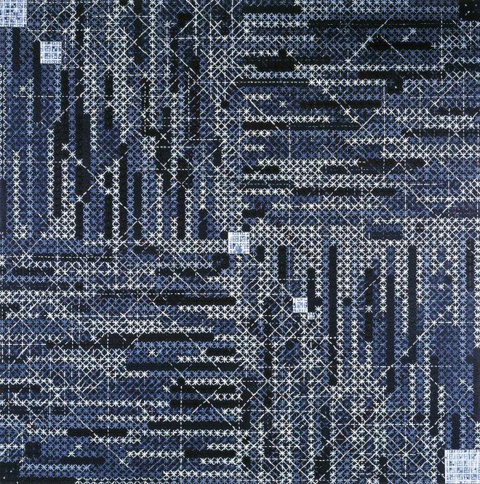 丁乙,《十示2013-1》,2013年,布面丙烯,200厘米 x 200厘米
