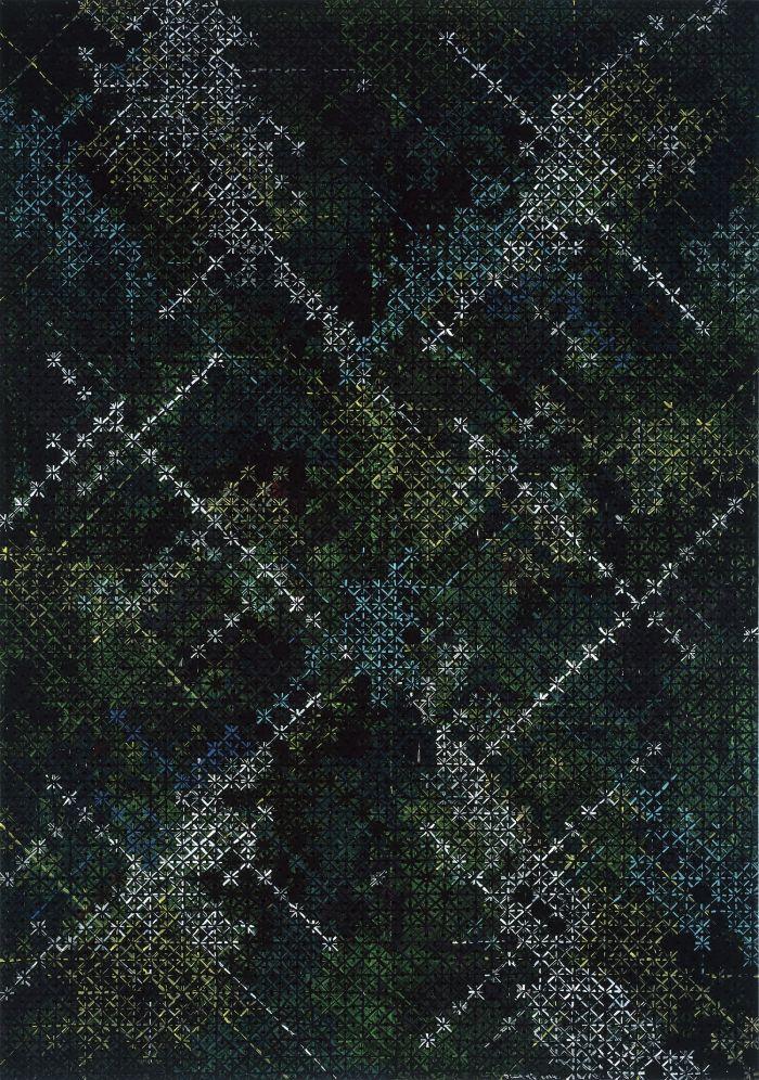 丁乙,《十示2014-6》,2014年,布面丙烯,200厘米 x 140厘米