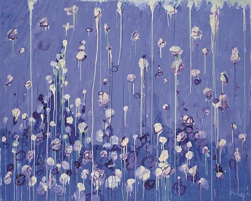 王川,《陨落之二》,2010年,布面丙烯,200厘米x 250厘米