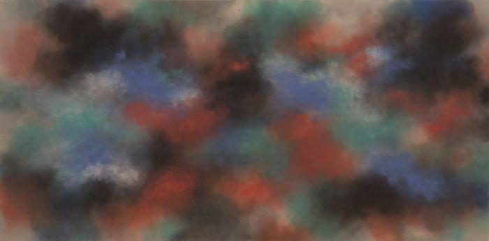 徐红明,《无题》,2015年,水彩水墨宣纸,123厘米 x 246厘米