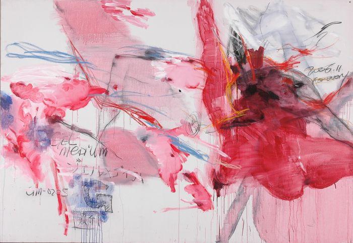 杨述,《无题2006-13号》,2006年,布面丙烯及综合材料,180厘米 x 260厘米