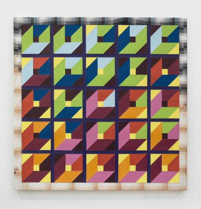 赵要,《很有想法的绘画 I-417》,2014年,布面丙烯,180厘米 x 180厘米